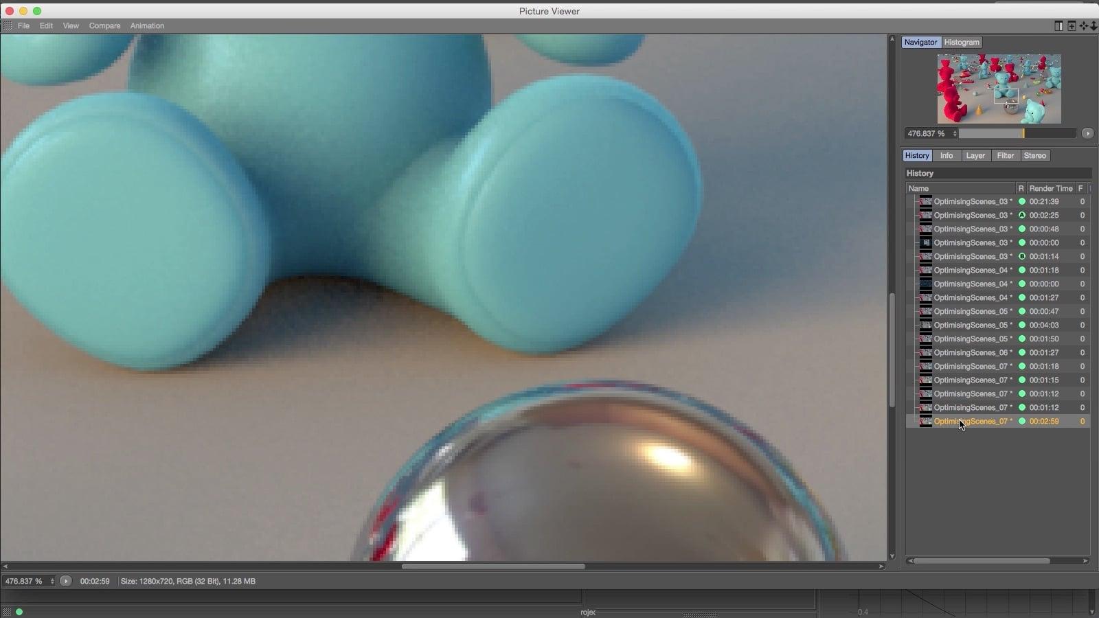 Optimizando cenas no Cinema 4D